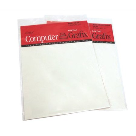 Grafix matte adhesive inkjet film set of 6 for Craft plastic sheets walmart