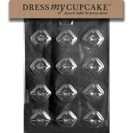 Dress My Cupcake Chocolate Candy Mold, Kiss Lips, Valentine's Day - Halloween Candy Bar Cupcakes