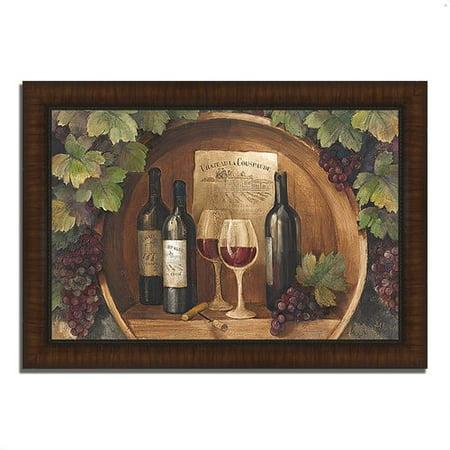 Fleur De Lis Living 'At the Winery' Framed Acrylic Painting (Phoenix Fleur De Lis)
