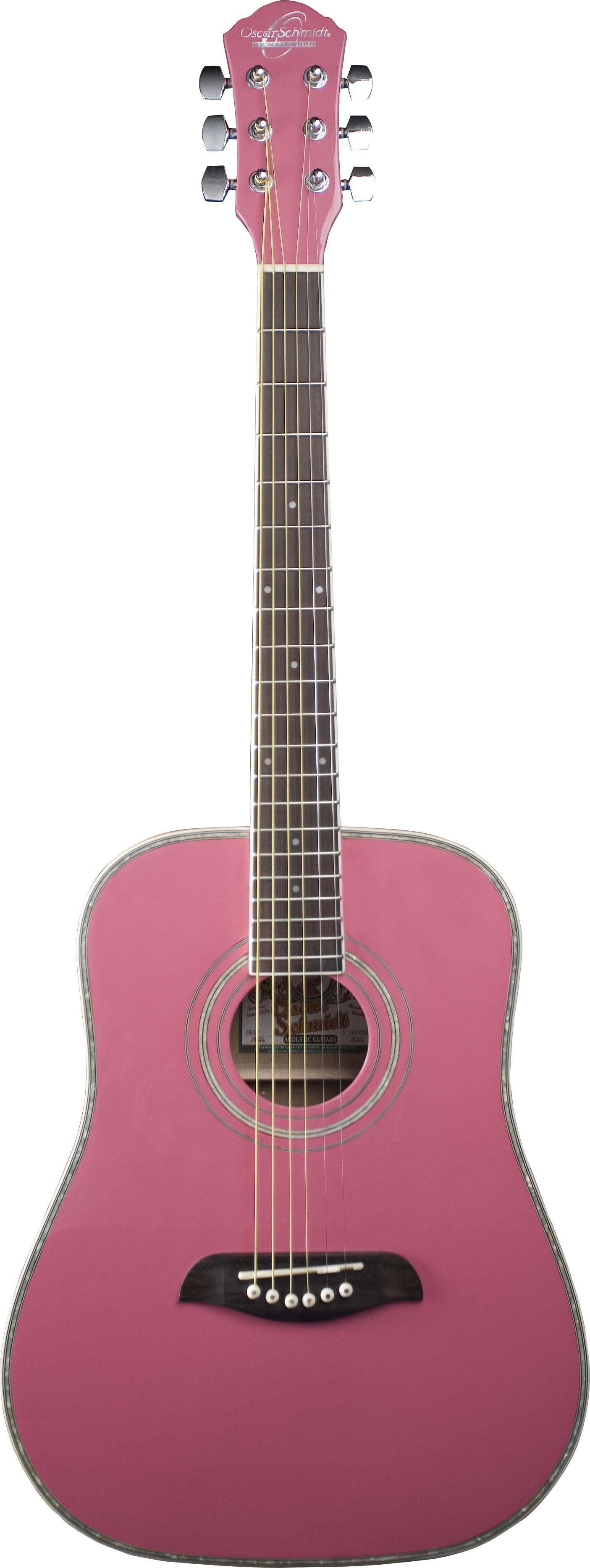 Oscar Schmidt OG1P 3/4 Size Acoustic Guitar - Pink
