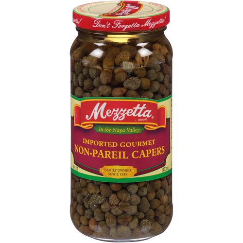 Mezzetta Non-Pareil Capers, 16 fl oz, (Pack of 6)