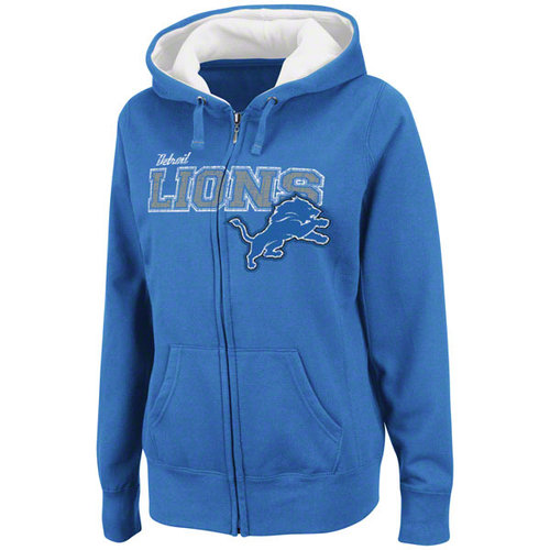 NFL - Detroit Lions Women's Power and Poise Full-Zip Hooded Sweatshirt