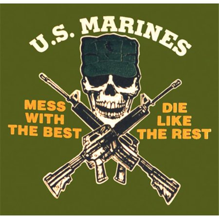 Fox Outdoor 64-54 XL U. S.  Marines-Mess With Best T-Shirt, Olive Drab - Extra