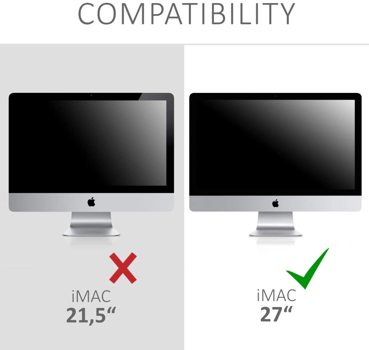 Light Grey kwmobile Cover Compatible with Apple iMac 27 iMac Pro 27-4-in-1 Case for Monitor and Accessories