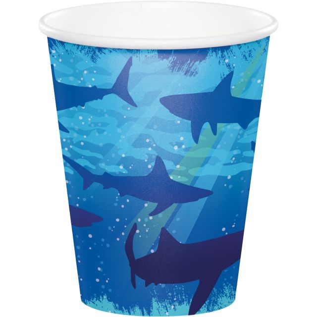 Party Creations Shark Splash Hot/Cold Cups, 9 Oz, 8 Ct
