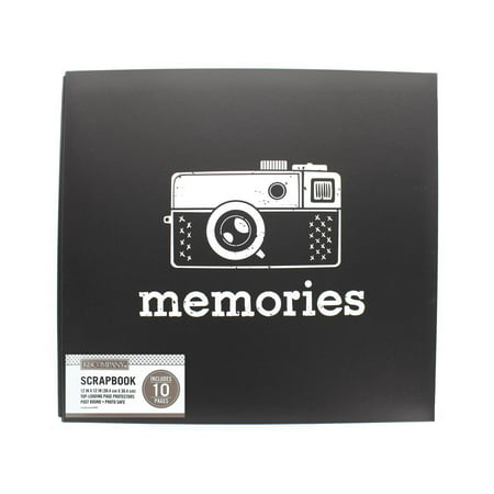 K&Co Scrapbook 12x12 Vintage Memories Black