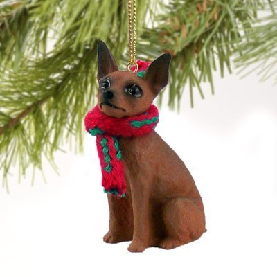 Miniature Pinscher Red & Brown Original Ornament by Conversation Concepts