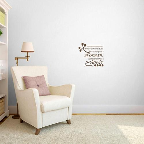 Wake up with a Purpose' Bedroom Wall Decal (1'6 x 1'5) RED