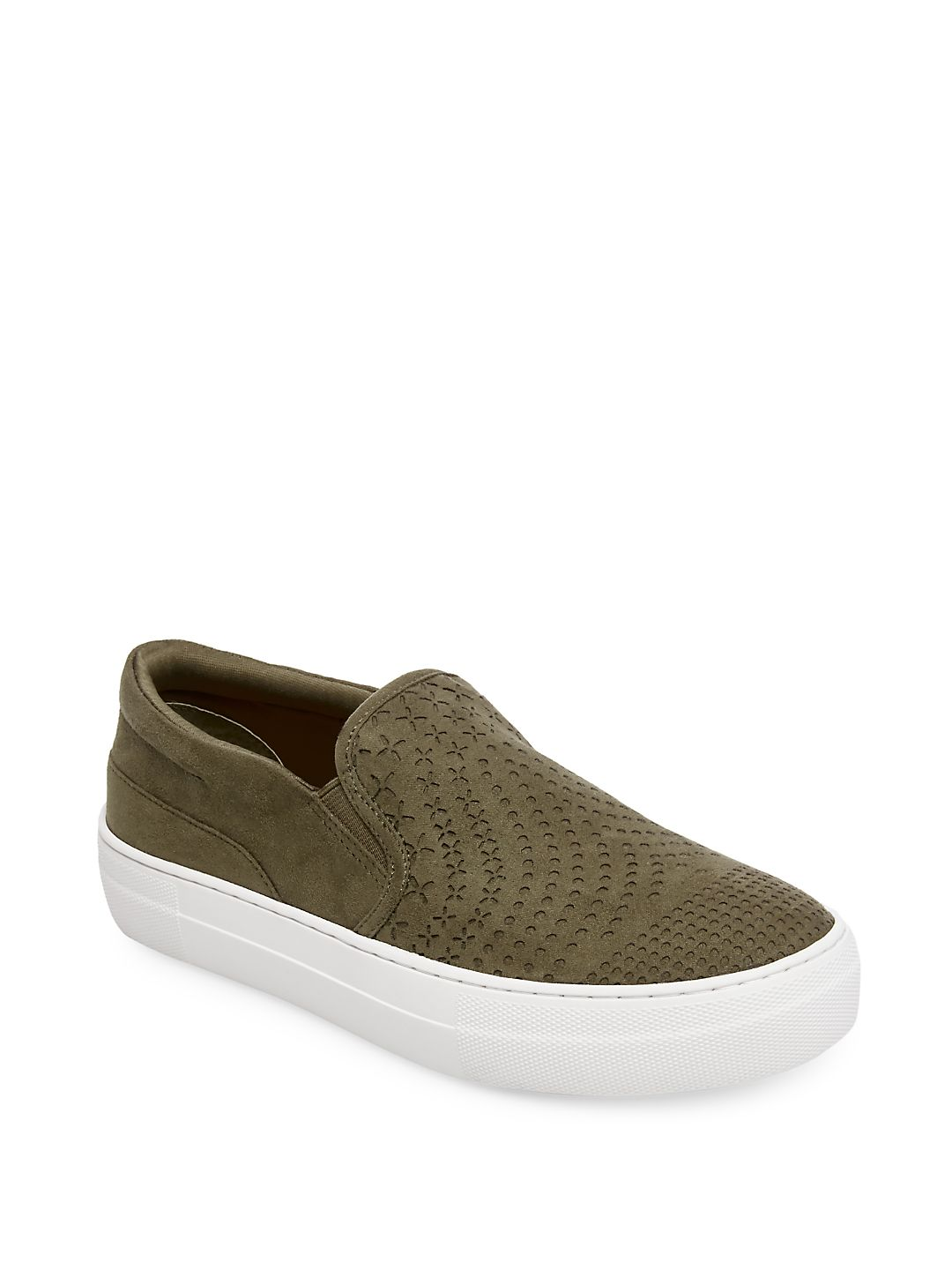 Gavin Perforated Flatform Slip-On Sneakers