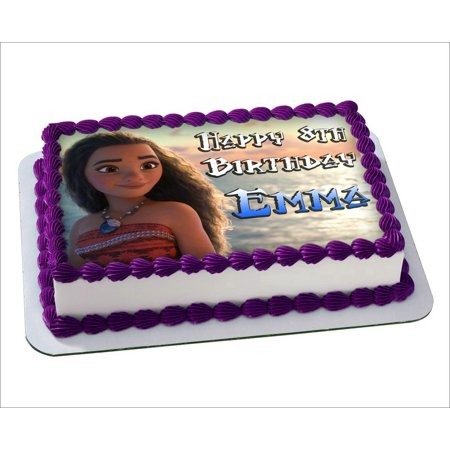 Moana Disney Edible Cake Image Personalized Toppers Icing Sugar Paper A4 Sheet Frosting Photo