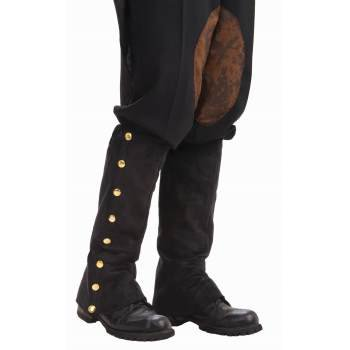 STEAMPUNK BLACK SUEDE SPATS - Steampunk Outfit