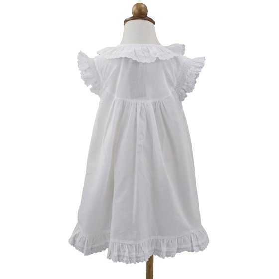 3bdbd468de3 StylesILove - Handmade Girls  Embroidered Lace Cotton Night Dress ...