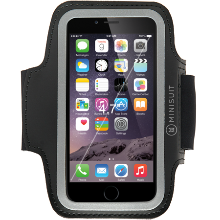 outlet store 0ad8d 3d56d Minisuit Sporty Armband Key Holder for iPhone 7, 6s, 6 Black