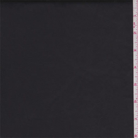 Coal Black Faux Leather, Fabric By the (Black Faux Leather)