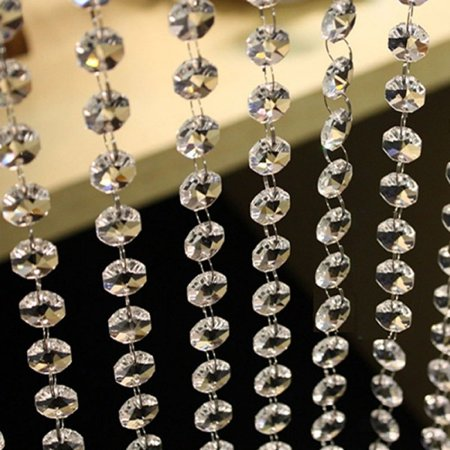 - MUXUAN 3.3 FT Crystal Clear Acrylic Bead Garland Chandelier Hanging Wedding Party Supplies