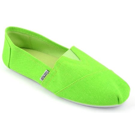 Corkys corkys girl 39 s sues lime green slip on shoes for Corky s garden center