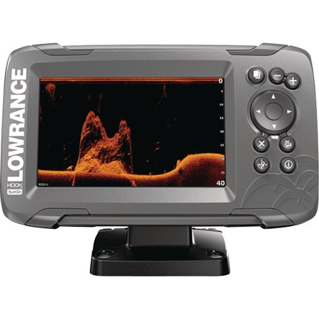 "Lowrance 000-14016-001 HOOK-2 5X Fishfinder with GPS Plotter, SplitShot Transducer, DownScan Imaging, Autotuning Sonar & 5"" Display"