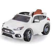 SUPERtrax Licensed Ford Focus RS Kid's Ride On Car, Battery Powered, Remote Control w/FREE MP3 Player - Frozen White