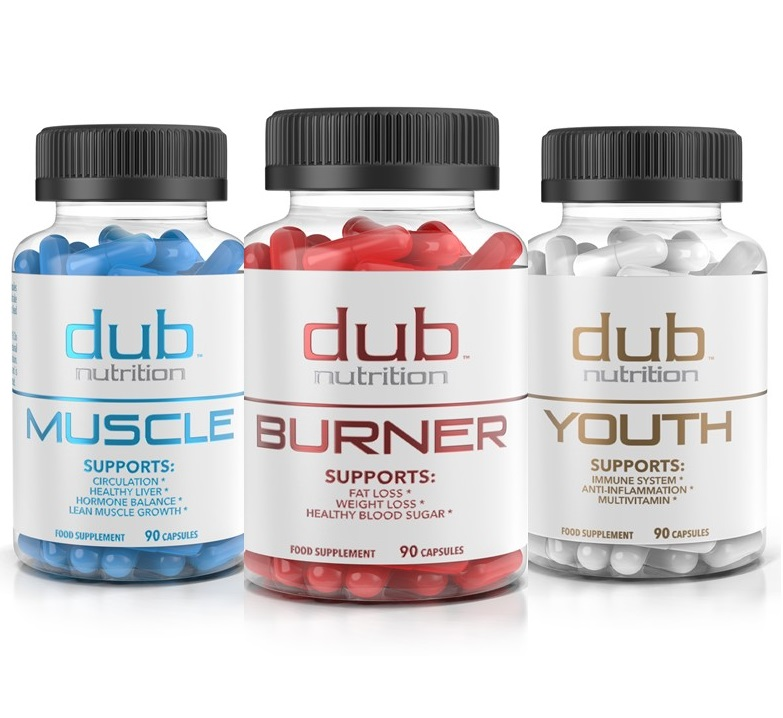 Burner, Muscle, Youth Combo by dub nutrition | All Natural Fat Burner, Muscle Workout Recovery, Immune Boost Supplement Package | Most Advanced Formula on The Market | 90 Capsules per Bottle