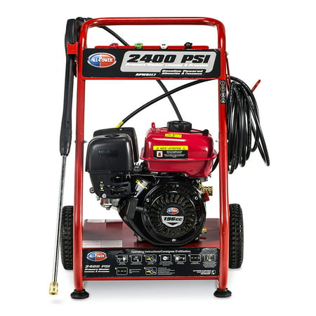 All Power 2400 PSI 1.8 GPM Gas Pressure Washer for Vehicles and Outdoor Cleaning, APW5117