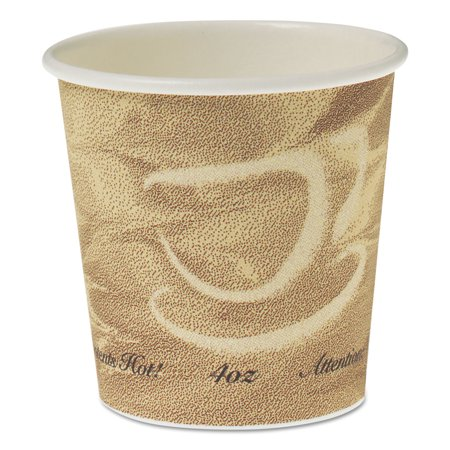 Single Sided Poly Paper Hot Cups, 4 OZ, Mistique (Single Sided Poly Paper)