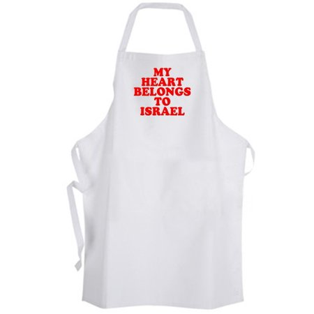 Aprons365 - My Heart Belongs to Israel – Apron - Support Peace