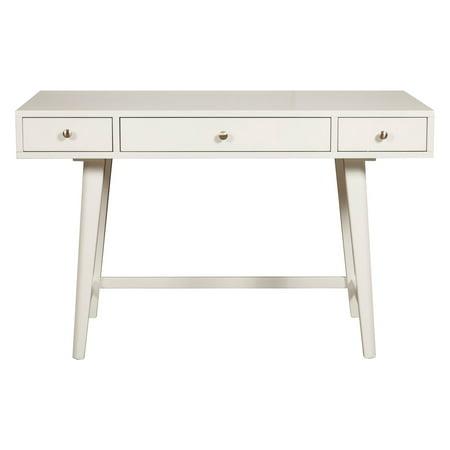 White Mid Century Desk
