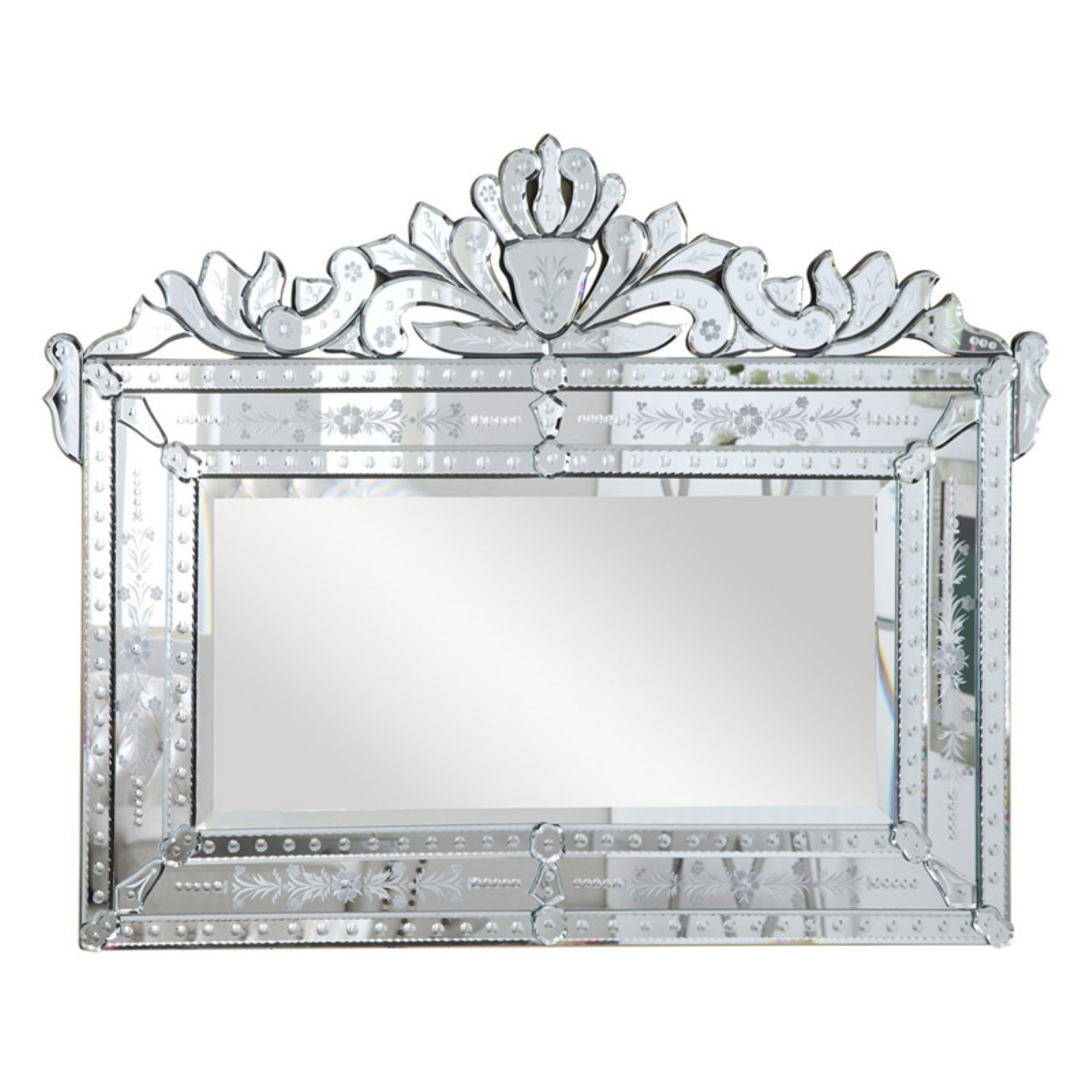 Elegant Furniture & Lighting Venetian Wall Mirror - 42.5W x 32.3H in.