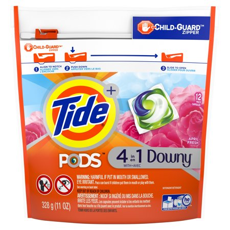 Tide PODS with Downy, Liquid Laundry Detergent Pacs, April Fresh, 12