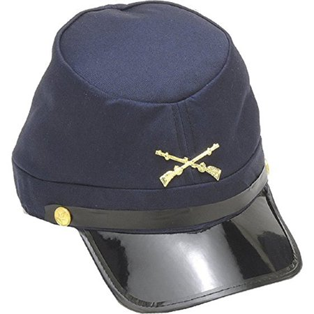 Union Soldiers Cap Civil War 58cm Army Cotton Navy Blue Kepi Costume Hat  Soldier