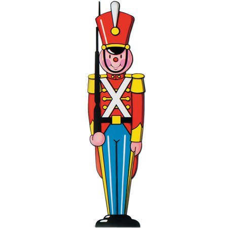 classic large toy soldier cutout christmas holiday party decorations 35 - Large Toy Soldier Christmas Decoration