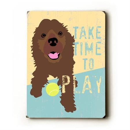 Artehouse LLC Take Time to Play by Ginger Oliphant Graphic Art Plaque