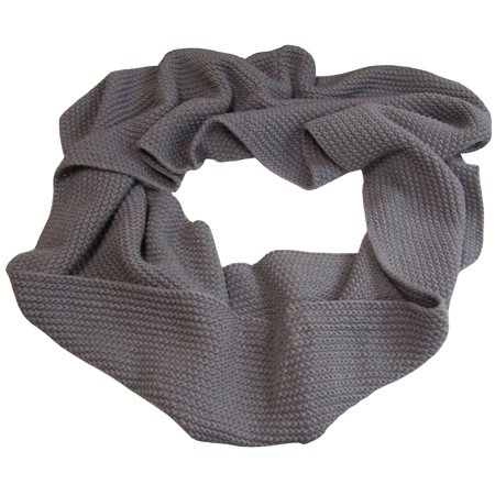 NICE CAPS Womens Adults Solid Chain Stitched Infinity Circle Scarf - Essential Outdoors Apparel Accessory For Winter Cold Weather (Scary For Adults)