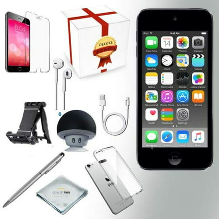 Apple iPod touch 32GB (6th Generation - Latest Model), Assorted Colors + Bluetooth Speaker + Clear Case + Screen Protector + Stand + Stylus Pen + Cloth](find me the cheapest ipod touch)