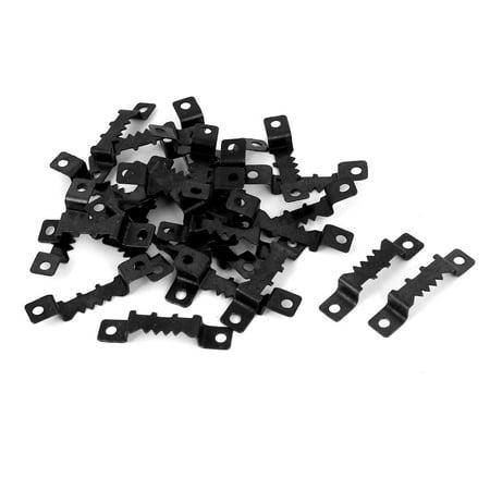 30PCS 41.5x8.5mm Double Hole Sawtooth Picture Frame Hangers w Screws - image 1 de 3