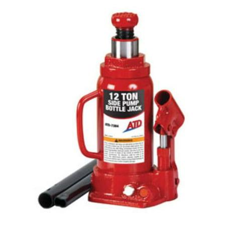 20 Ton Side Pump Bottle - ATD 7384 12 Ton Hydraulic Side Pump Bottle Jack