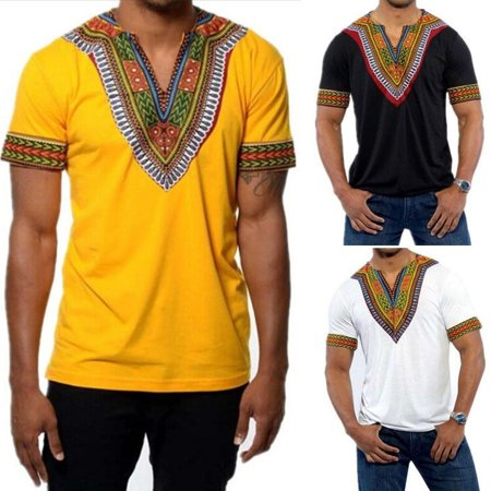 Mens Hipster Hip Hop African Dashiki Crew Neck Elongated longline t shirt SP (Best Mens Hipster Clothing Websites)