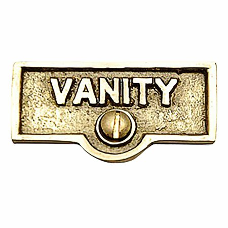 Switch Plate Tags VANITY Name Signs Labels Lacquered Brass | Renovators Supply