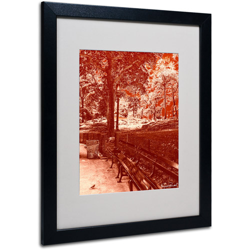 "Trademark Fine Art ""Red Forest"" Matted Framed Art by Miguel Paredes"