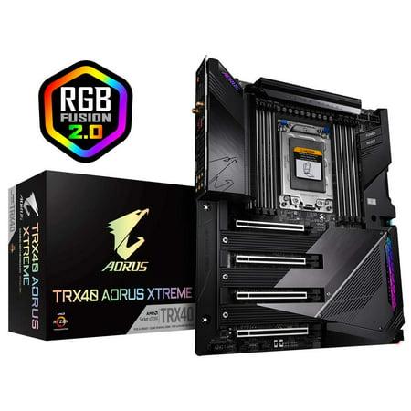 GIGABYTE TRX40 AORUS Xtreme (sTRX AMD TRX40/Fins-Array Heatsink/16+3 Phases Infineon Digital VRM/Gen 4 AIC with 4 X M.2 NVMe/Intel WiFi 6/Intel Dual 10GbE LAN/XL-ATX/AMD Motherboard) Lan Atx Motherboard