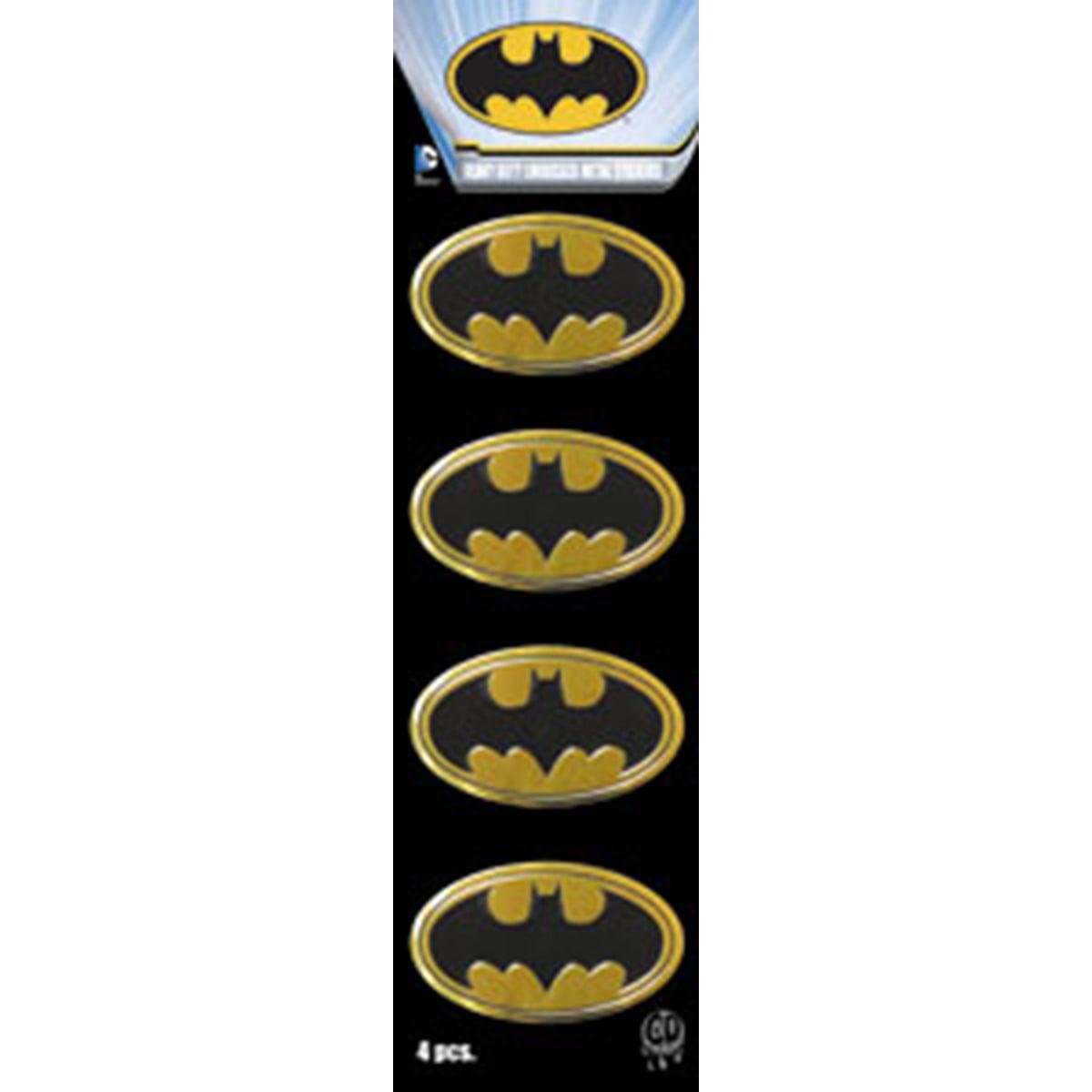 "Dc Comics Licensed Heavy Duty Embossed Metal Stickers 4/Pkg-Batman Logo 1""X1.5"" - image 1 de 1"