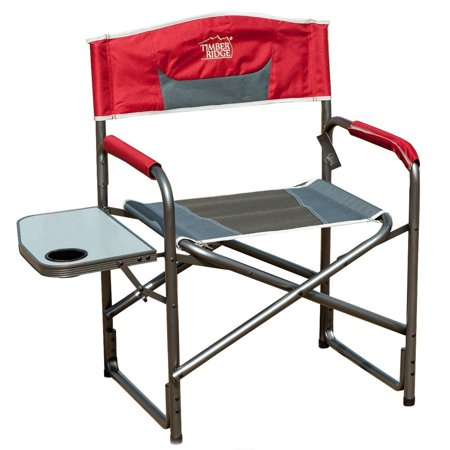 TimberRidge Aluminum Portable Director's Folding Chair with Side Table - Walmart.com