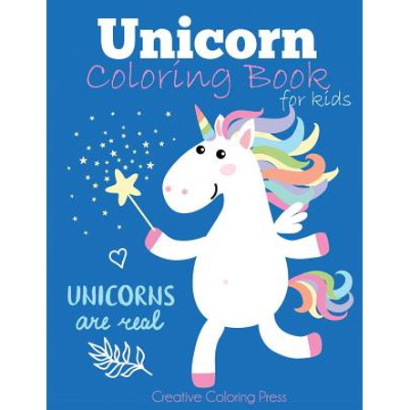 Love Books Girl (Unicorn Coloring Book for Kids : Magical Unicorn Coloring Book for Girls, Boys, and Anyone Who Loves)
