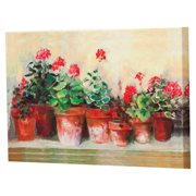 Cape Craftsmen Outdoor Kathleen's Geraniums by Carol Rowan Painting Prints on Canvas