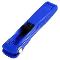 Unique Bargains Blue Plastic Medium Size Paper Clam Clip Stapler Dispenser New School Supplier