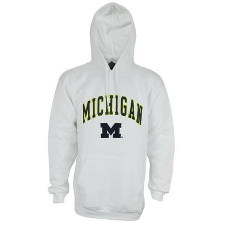 - Genuine Stuff NCAA Men's UofM Michigan Wolverines Pullover Fleece Sweatshirt Hoodie