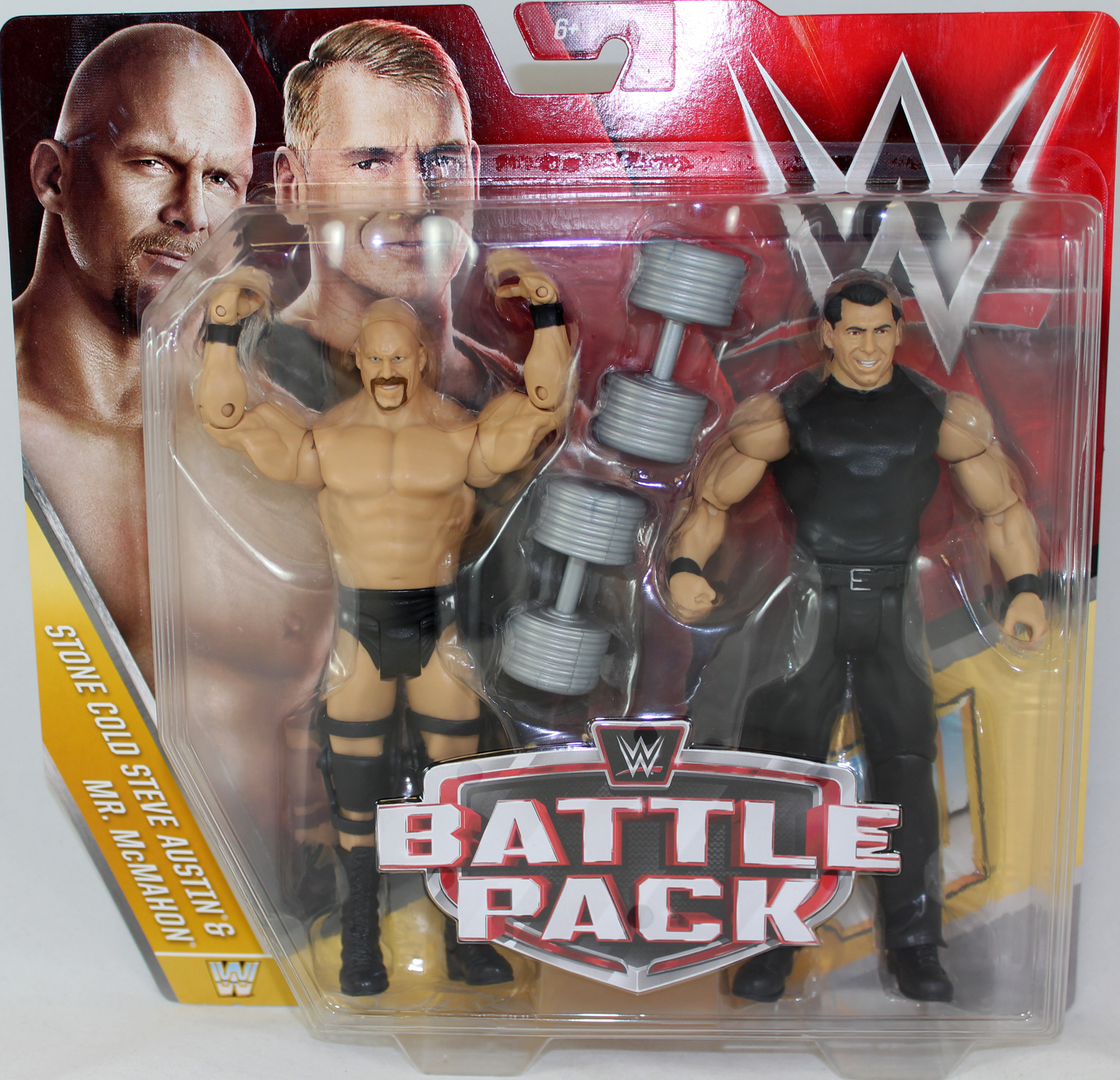 Stone Cold Steve Austin & Mr. McMahon (Vince McMahon) - WWE Battle Packs 40 WWE Toy Wrestling Action Figures