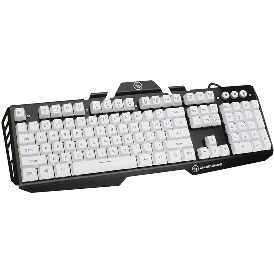 IOGEAR Gkb704l-wt Kaliber Gaming HVER Aluminum Gaming Keyboard, Imperial White