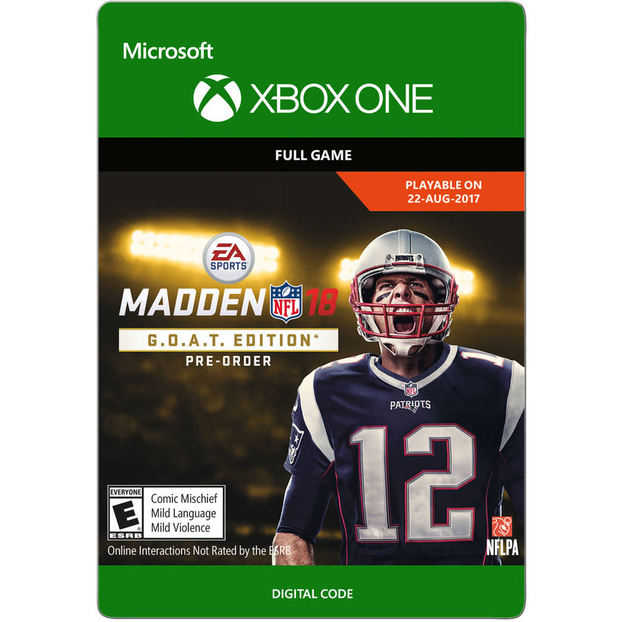 Madden NFL 18 G.O.A.T. Edition, Xbox One, Electronic Arts [Digital Download]