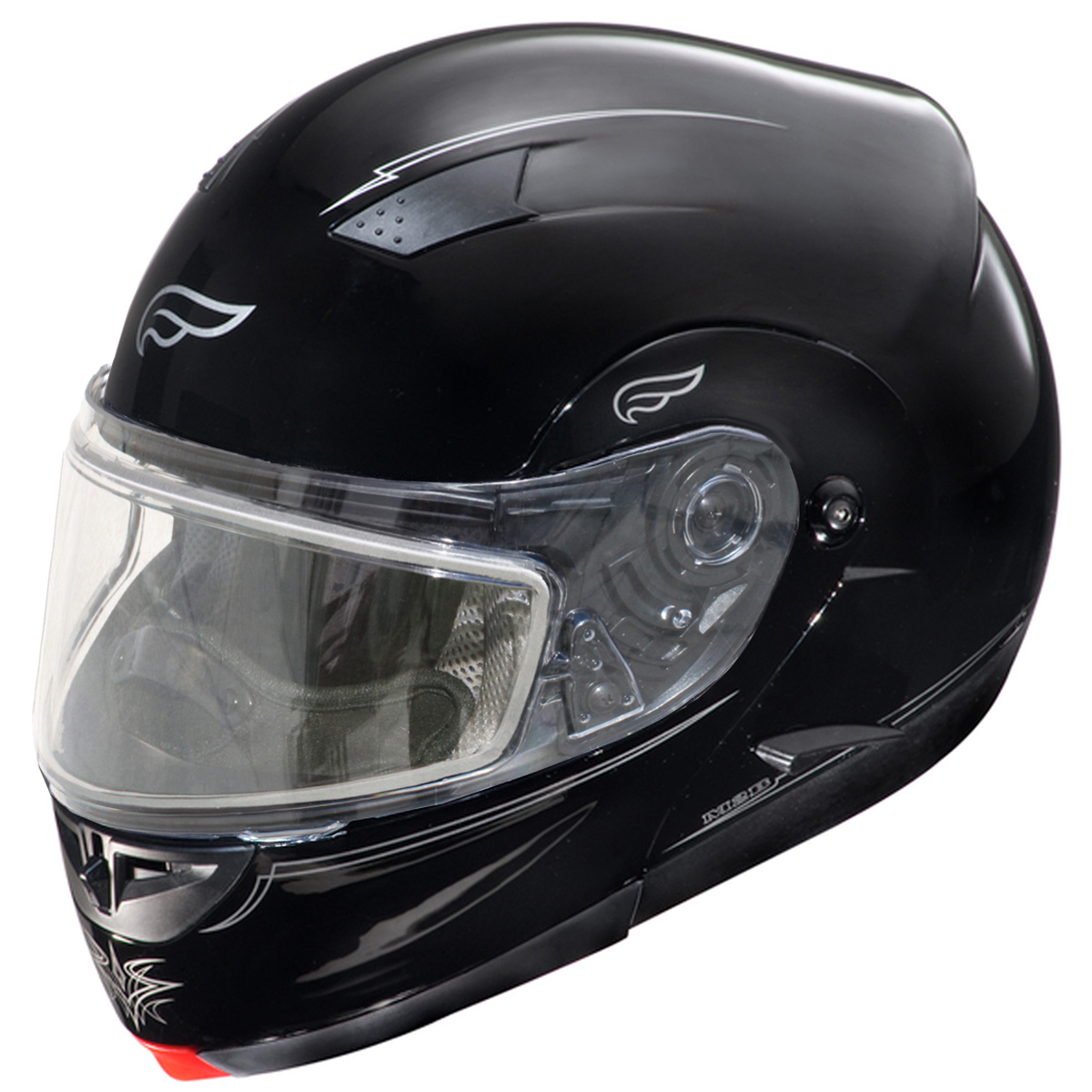 Adult Fulmer Full Face Modular Snowmobile Helmet w/ Dual ...
